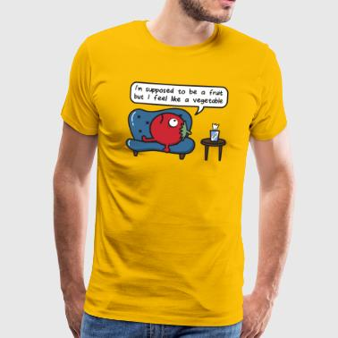 Tomato Supposed Fruit Vegetable Feeling Therapy - Männer Premium T-Shirt