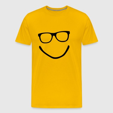 Smiley - Nerd - Brille - Männer Premium T-Shirt