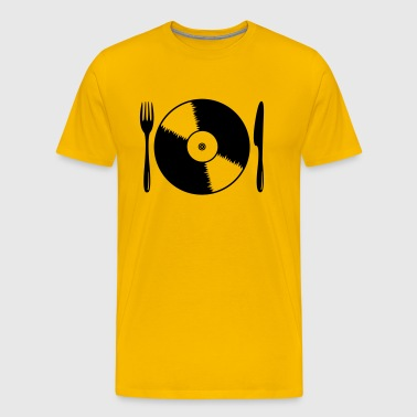 Record with cutlery - Men's Premium T-Shirt