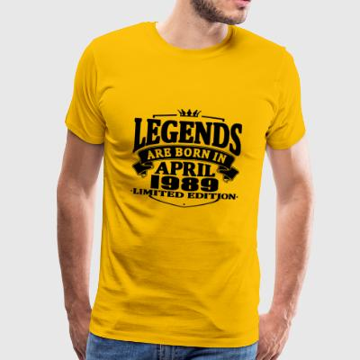 Legends er født i april 1989 - Herre premium T-shirt