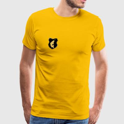Model 55 - logo stigende ørred - Herre premium T-shirt