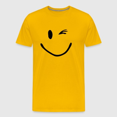 Zwinker Smiley  - Männer Premium T-Shirt