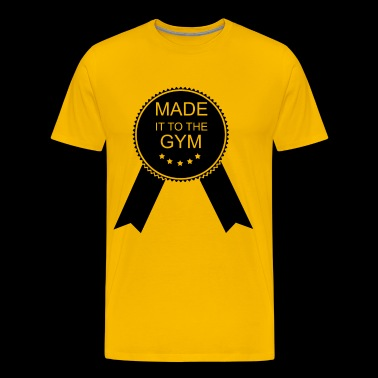 Funny Workout Fitness Made It To The Gym - Men's Premium T-Shirt