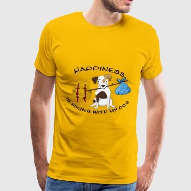 Hiking Dogowner Dog Backpacker Nature Pet Love - Men's Premium T-Shirt