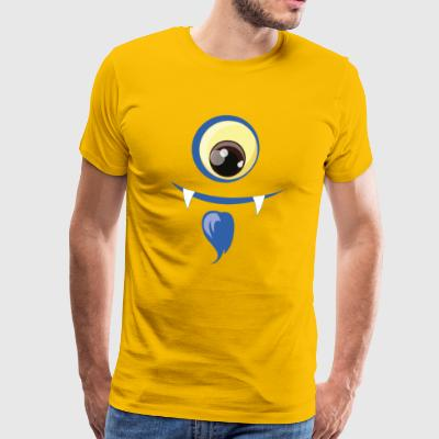 One-eyed monster with a beard - Men's Premium T-Shirt