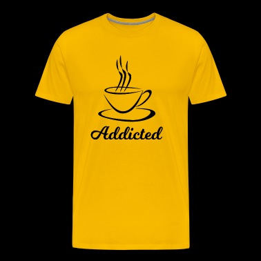 Coffee addicted - Men's Premium T-Shirt