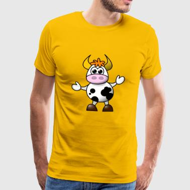 Key the cow - Men's Premium T-Shirt