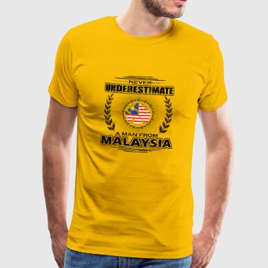 Never Underestimate Man Roots MALAYSIA png - Men's Premium T-Shirt