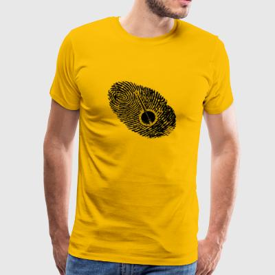 fingerprint dns dna gift banjo - Men's Premium T-Shirt