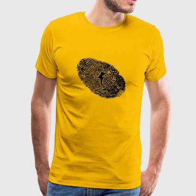 fingerprint dns dna gift women handball han - Men's Premium T-Shirt