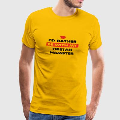 Hamster rather love at my TIBETAN HAMSTER - Men's Premium T-Shirt