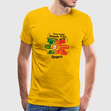 Stuga i rötter TRAVEL IN Portugal Lagos - Premium-T-shirt herr
