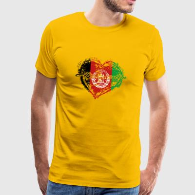 HOME ROOTS COUNTRY GIFT LOVE Afghanistan - Männer Premium T-Shirt