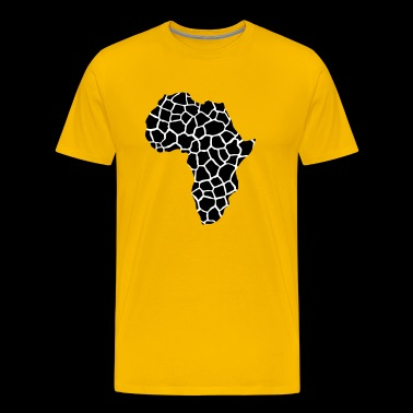 AFRICA - Continent of giraffes pattern - Men's Premium T-Shirt