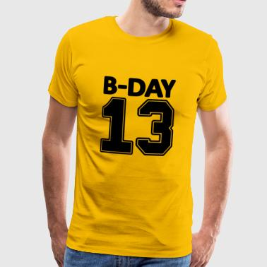 13th birthday bday 13 number numbers number jersey - Men's Premium T-Shirt