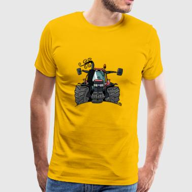 0508 Red tractor - Men's Premium T-Shirt