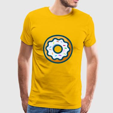donut with sprinkles cookies cake kuchen backen ba - Männer Premium T-Shirt