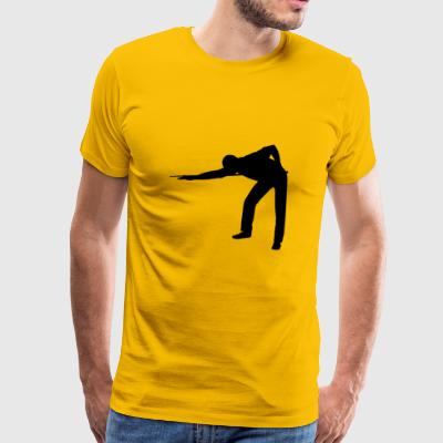 billiard players - Men's Premium T-Shirt