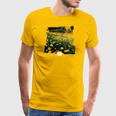Spring meadow with yellow flowers - Men's Premium T-Shirt