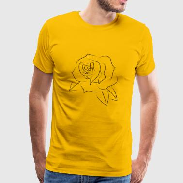 Minimal rose tatovering svart - Premium T-skjorte for menn