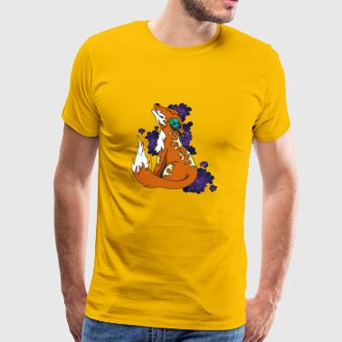 Fox with headphones - Men's Premium T-Shirt