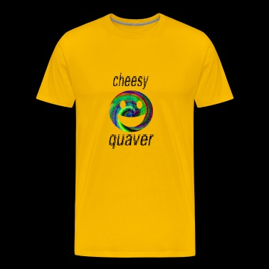 cheesy quaver - Premium T-skjorte for menn