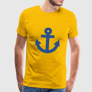anchor anchor ship boat boat - Men's Premium T-Shirt