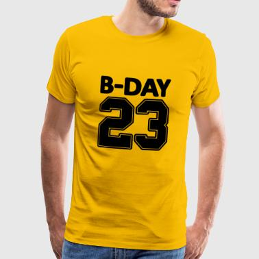 23rd birthday bday 23 number numbers jersey number - Men's Premium T-Shirt