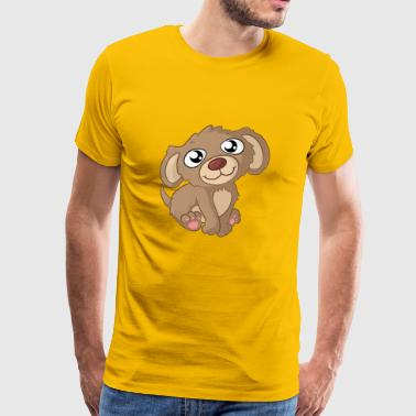 Cute cartoon dog - Men's Premium T-Shirt