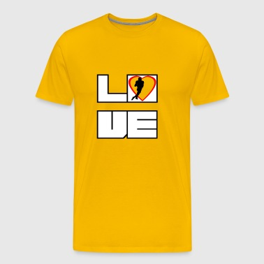 Love love football Touchdown Touchdown - Premium T-skjorte for menn