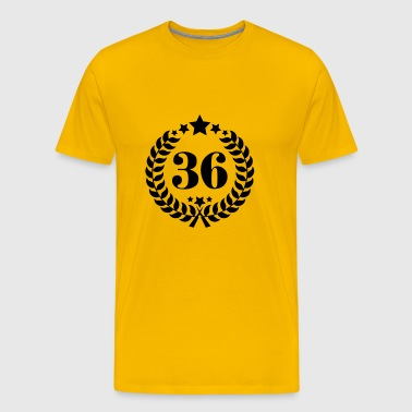 36th Birthday Wreath - Anniversary Wreath - Men's Premium T-Shirt