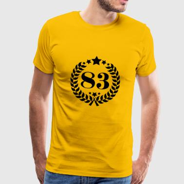 83th birthday wreath number 83 vintage age - Men's Premium T-Shirt