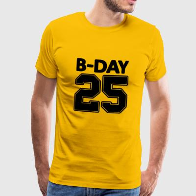 Shirt number 25 / 25th birthday Bday jersey number - Men's Premium T-Shirt