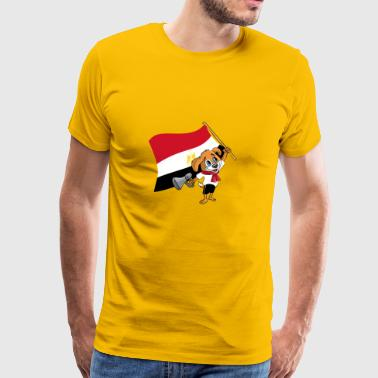 Egypt fan hund - Premium T-skjorte for menn