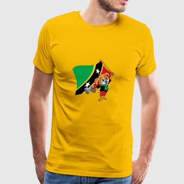 St. Kitts and Nevis fan dog - Men's Premium T-Shirt
