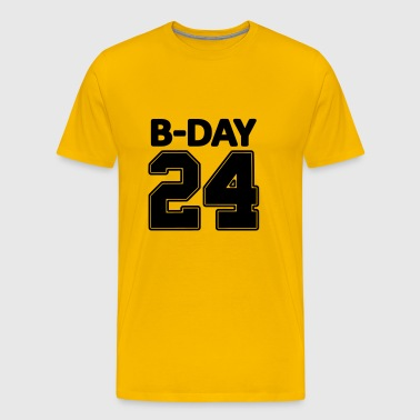 24 number number for the 24th birthday football jersey - Men's Premium T-Shirt