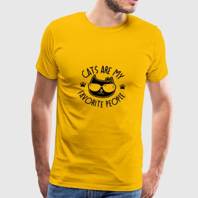 Cat kitty: Cats Are My Favorite People Gift - Männer Premium T-Shirt