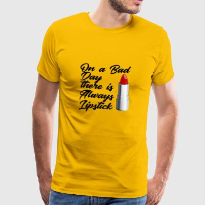 Lipstick Beauty Beauty Mode Mode mood - Mannen Premium T-shirt