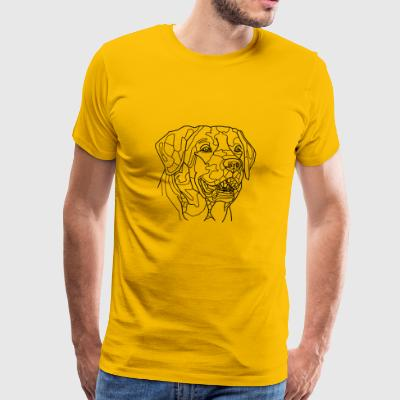 Dog Line Art - Premium-T-shirt herr