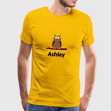 Kinder Schule Geboren Eule Motiv Ashley - Männer Premium T-Shirt