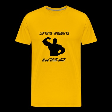 lifting weights - Men's Premium T-Shirt