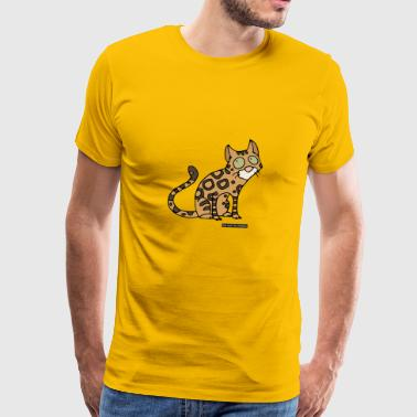 Cat - Bengal - Premium T-skjorte for menn