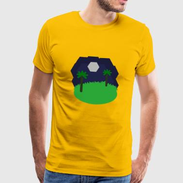 Hexagonal landscape - Men's Premium T-Shirt