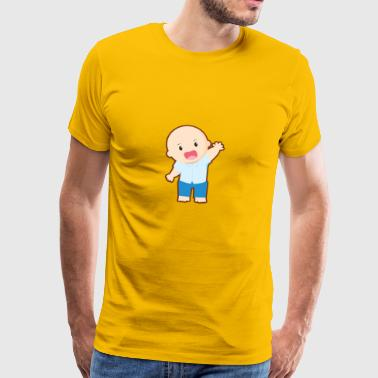 Baby waving. Gift idea. - Men's Premium T-Shirt