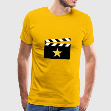 Movie Star Clapperboard Square - Premium-T-shirt herr