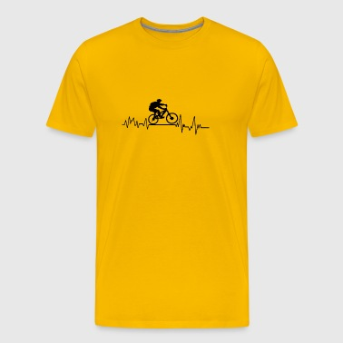 Heartbeat sport t-shirt cadeau Mountain Bike - Mannen Premium T-shirt