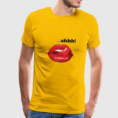 Hot lips with tongue - Men's Premium T-Shirt