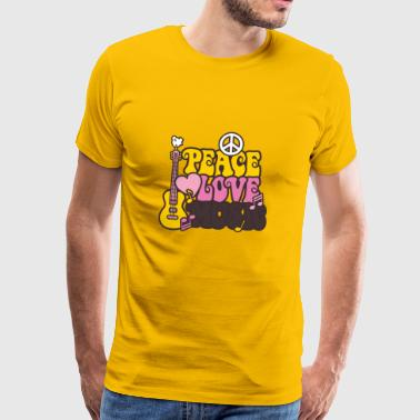 Peace & Love & Music - Männer Premium T-Shirt