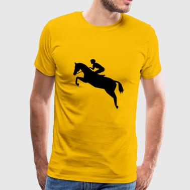 Jockey - Horse Racing - Premium T-skjorte for menn