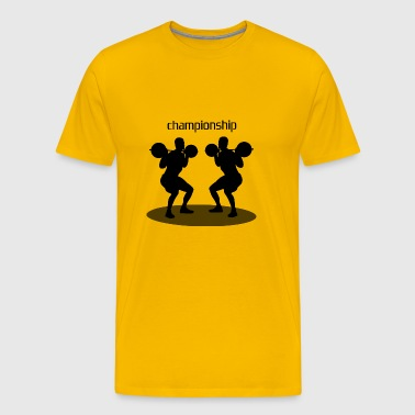 championship squat - Men's Premium T-Shirt